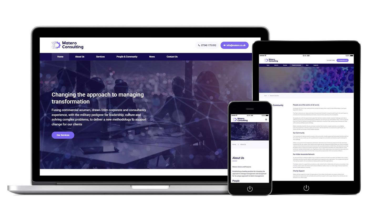 Matero Consulting web design by Wizbit
